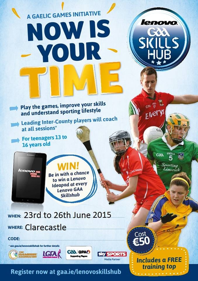 Lenovo GAA Skills Hub 23rd - 26th June, 13-16 Year Olds