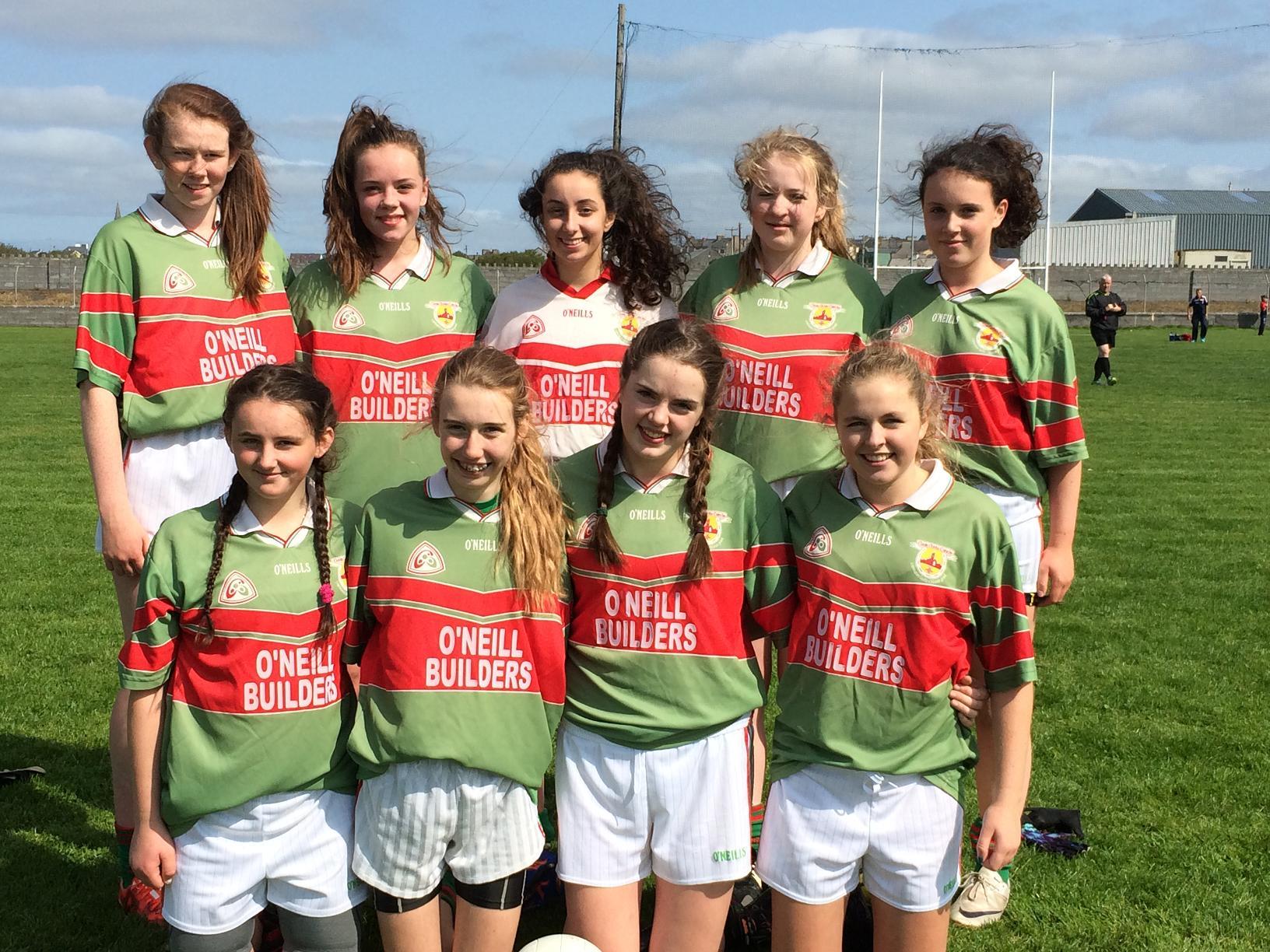 U16's Ladies Football team at All Ireland 7's