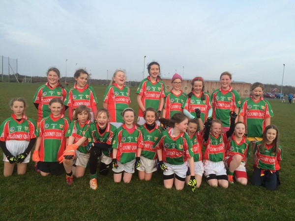 U12 Ladies Football Red/Green Team