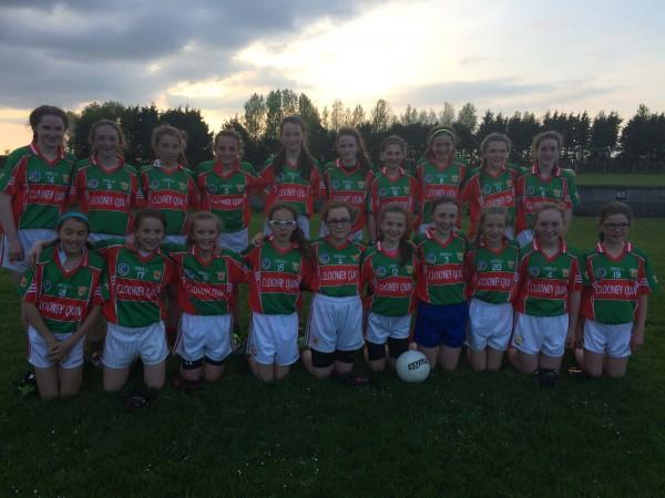 U14 Ladies Football in Shield Semi Final