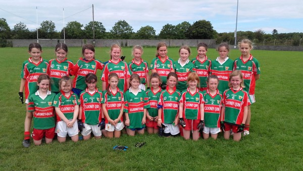 U10 Ladies at Kilrush Blitz Aug 2016