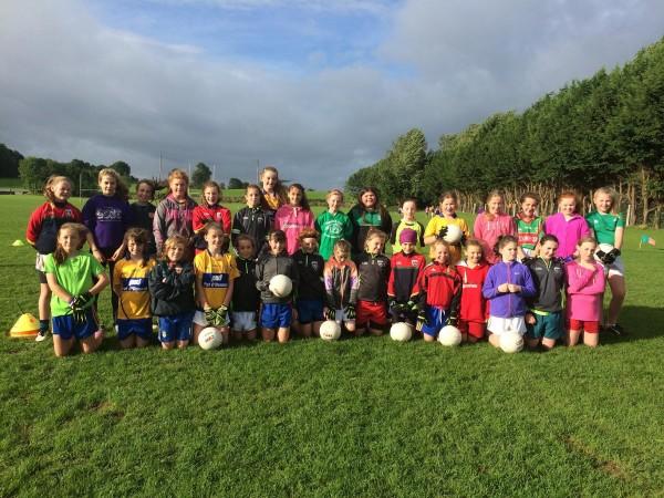 U12 Ladies Football - full of activity on Sunday mornings