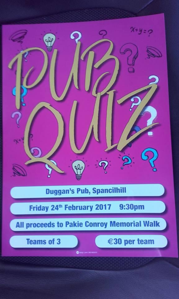 Duggans Pub Quiz in Aid of Milford