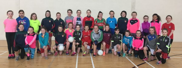 U12 Ladies Gaelic Football training hard for 2017