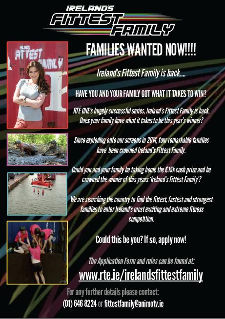 Irelands Fittest Family : Apply NOW !!!