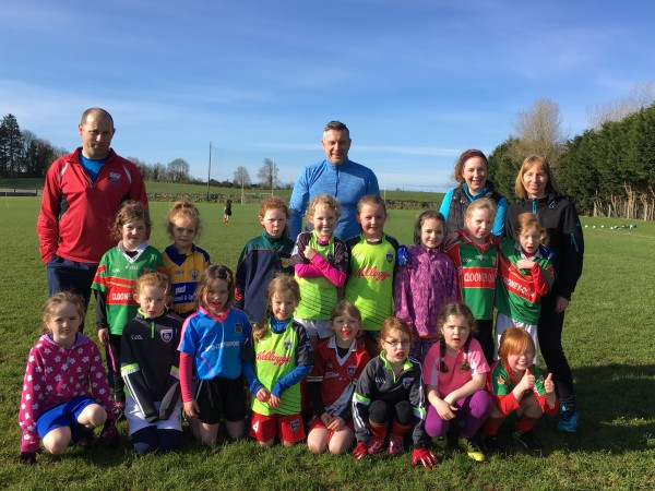 First U8 Ladies Football training session