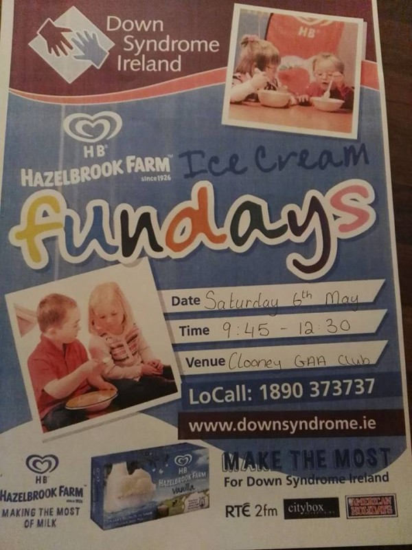 Ice Cream Funday Clooney Pitch Saturday 6th May