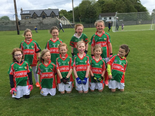 First ever U8 Ladies Football blitz in Clooney