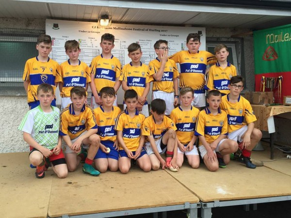 U12 loose Mullinahone Cup Final by narrow Margin