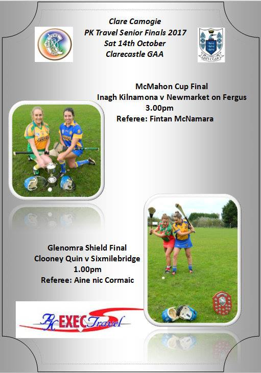 Clooney Quin Senior Camogie in Senior B final Saturday