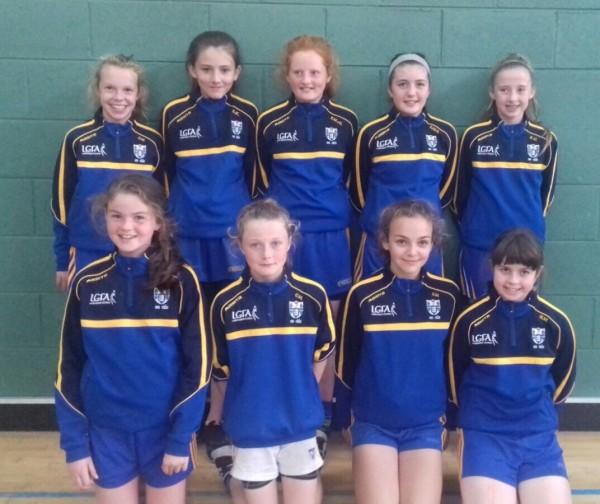 U12 Clooney girls on Clare Football Dev Squad