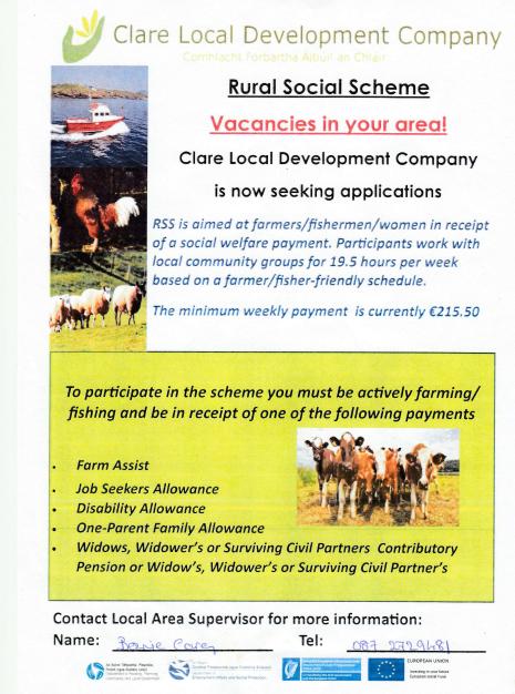 Rural Social Scheme Vacancies in Co Clare