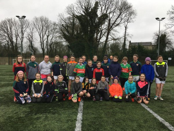 U12's ladies football first training session 2018