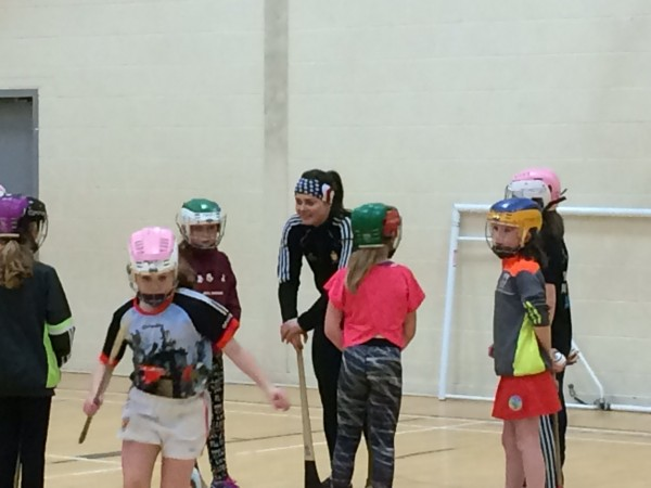 U11 and U12 camogie indoor camogie training