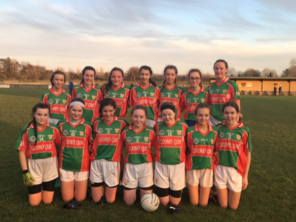 U16 Ladies Football First Round First Win!