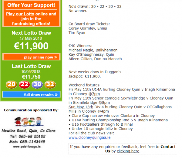 Lotto Results - next Jackpot €11,900 wow !!!