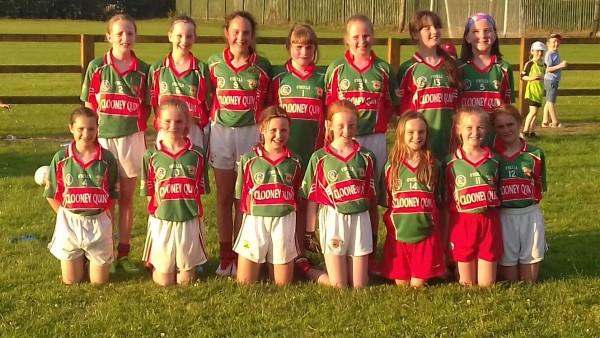 U12 Ladies Football Green Team in Championship action