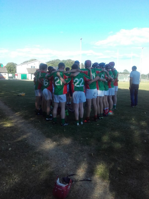 U16 hurling championship at the quarter finals stage on Sunday evening