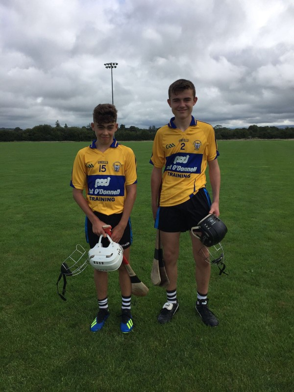 Best of luck to Evan and Callum in the Tony Forristal tournament