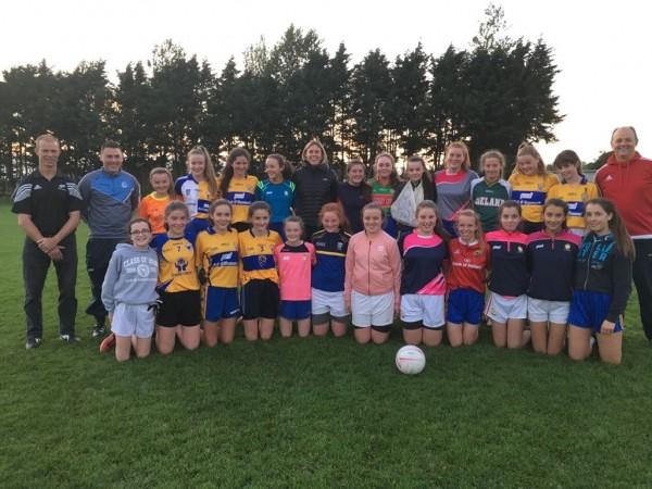 U14 Ladies Football Green team began Championship in Carron.