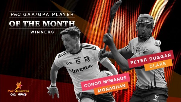 Peter Duggan PwC GPA player of the month for July