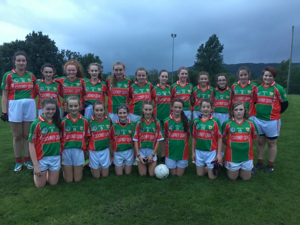 U14 Ladies Football Red Team great victory in Corofin