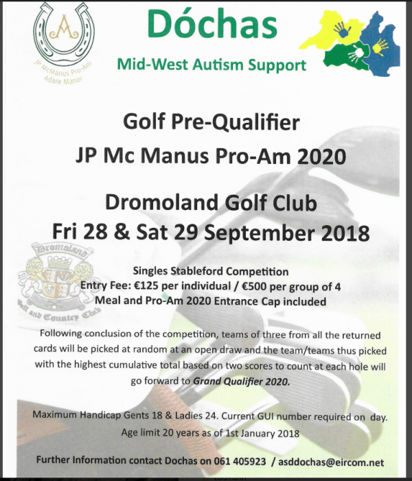Dóchas Mid -West Autism Support Golf Pre Qualifier