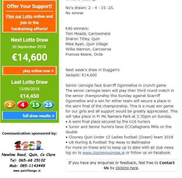Lotto Jackpot €14,600
