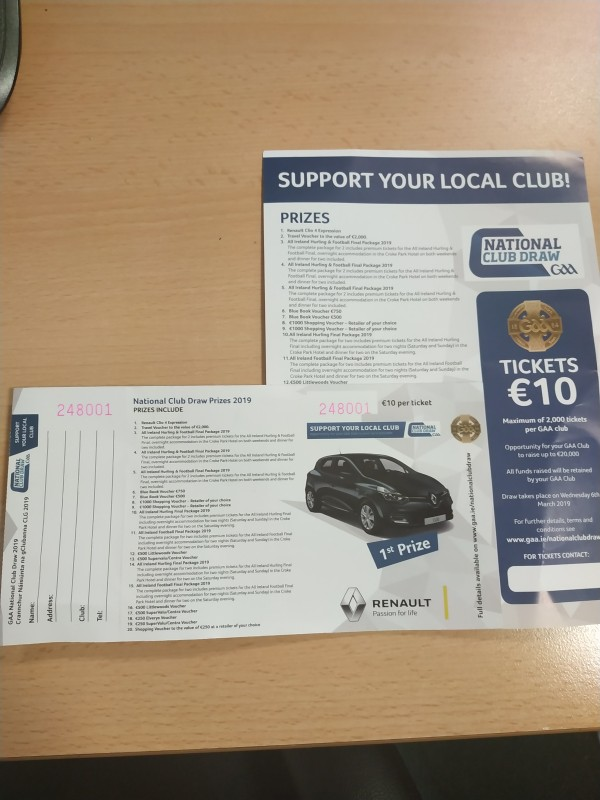 Volunteers sought for promotion of GAA national draw tickets