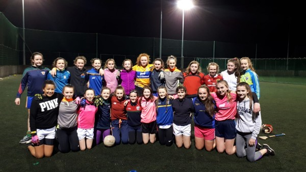 "U14's Camogie and Ladies Football at ""Winter Training"""