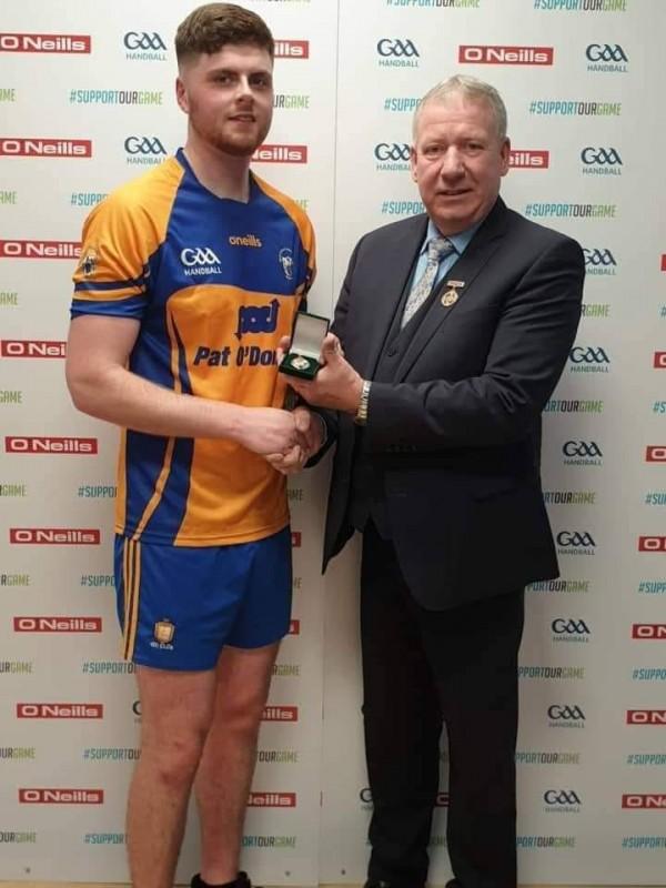 Fergal Coughlan Jnr. All Ireland junior singles handball champion for 2019