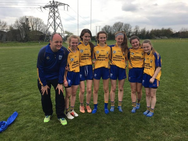 Well Done Clare U14 Ladies Footballers from Clooney Quin