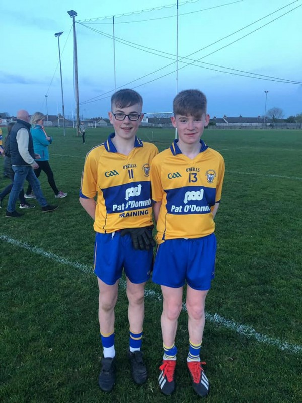 John and Jack represent Clare at U14 Football