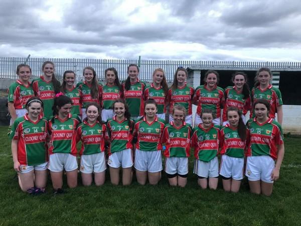 U16A shield final for Ladies Football