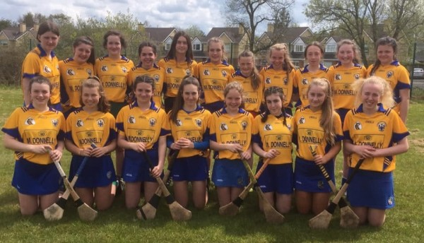 U14 Clooney Quin Girls representing the county