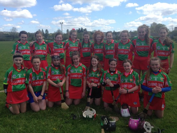 Clooney Quin U14 camogie Academy team for Championship
