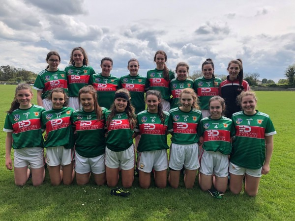 Well done to the Junior ladies football team, and Snr Camogie win