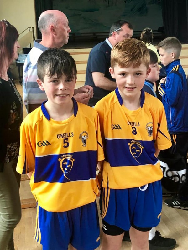 Well done PJ and David in Primary Game Football