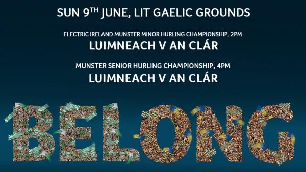 Limerick v Clare , Gaelic Grounds Sunday June 9th, Minors 2pm , Seniors 4pm