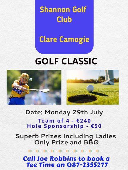 Clare Camogie and Clooney Quin representatives