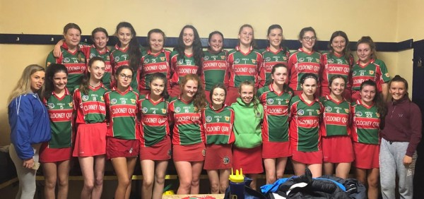 U16B Camogie Cup Final this Saturday