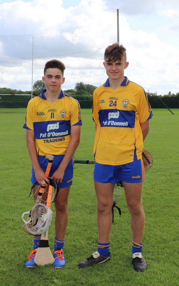 Clare U15 Team Captained by Clooney Quin man