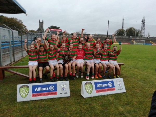 Quin School girls are 2019 Ladies Football Div I County Champions.